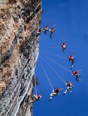 falling climber